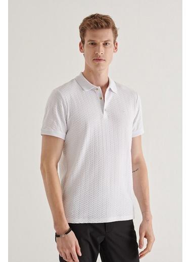 Avva Erkek  Polo Yaka Tişört A11Y1101 Beyaz